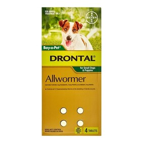 Drontal Sml DogTablets x 4